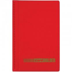 Визитница Спейс на 96 визиток, 3 ряда, ПВХ, красный (260774)