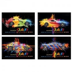"""Альбом для рисования 32л. """"Super car"""" на гребне, БиДжи (АР4гр32 7533)"""