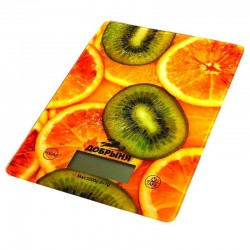 Кухонные весы Добрыня DO-3010 Апельсины электронные, стекло, макс. 5кг, точность 1г, авто вкл/выкл
