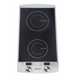 Плита настольная Galaxy GL 3057 Black 2900Вт, конфорок-2, упр. механическое