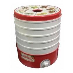 Сушилка для овощей Дачница СШ-006 White/red 520Вт, 5 поддонов, 20л, до 5кг