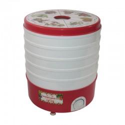 Сушилка для овощей Помощница СШ-006 White/red 520Вт, 5 поддонов, до 17кг