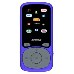 "MP3 плеер Digma B4 8Gb Синий /1.8""/FM/MP3 плеер Digma B4 8Gb Синий (/1.8""/FM/MP3,OGG,FLAC,AAC,APE,WAV,M4A,AVI,AMV,microSDHC,диктофон,15ч)"