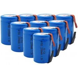 Аккумулятор NI-Cd 4/5 Sub C MP 2200mAh/1.2В, 4/5 Sub C, промышленный, выводы