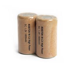 Аккумуляторы Ni-Cd SC Robiton 1800NCSC 2 штуки/1.2В, Sub C, промышленный