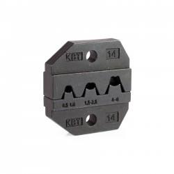 Матрица кримпера КВТ МПК-14, РП 0.5..6.0мм? (автоклеммы), обжим лепестковый, для СТВ СТК СТА