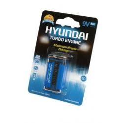 Батарейка 6LR61(крона) HYUNDAI ALKALINE 1 шт./9В. щелочная