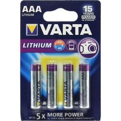Батарейки AAA(FR03) VARTA Professional LITHIUM 4 шт./1,5В. литиевая