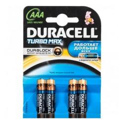 Батарейки AAA(LR03) DURACELL Turbo Max упак 4 шт./1,5В. щелочные