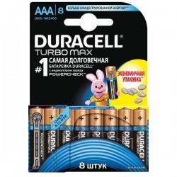 Батарейки AAA(LR03) DURACELL Turbo Max упак 8 шт./1,5В. щелочные