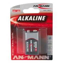 Батарейка 6LR61(крона) ANSMANN RED 1 шт./9В. щелочная