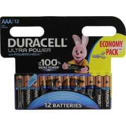 Батарейки AAA(LR03) DURACELL Ultra Power упак 12 шт./1,5В. щелочные