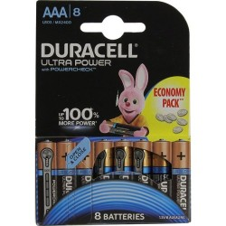 Батарейки AAA(LR03) DURACELL Ultra Power упак 8 шт./1,5В. щелочные