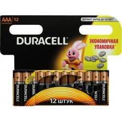 Батарейки AAA(LR03) DURACELL упак 12 шт./1,5В. щелочные