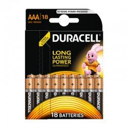 Батарейки AAA(LR03) DURACELL упак 18 шт./1,5В. щелочные