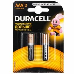 Батарейки AAA(LR03) DURACELL упак 2 шт./1,5В. щелочные