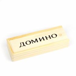 Игра настольная домино, жесткий футляр AL6375