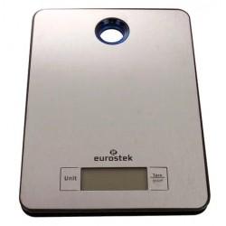 Кухонные весы Eurostek ЕКS-5000 Silver электронные, металл, макс. 5кг, точность 1г, авто вкл/выкл