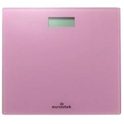 Весы Eurostek ЕВS-2801 Pink стекло, точность 0,1кг, макс. 180кг, авто вкл/выкл