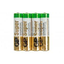 Батарейки AAA(LR03) GP Super упак 4 шт. (запайка)/1,5В. щелочные