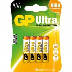 Батарейки AAA(LR03) GP Ultra упак 4 шт./1,5В. щелочные