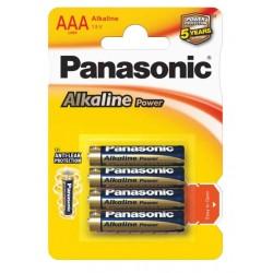 Батарейки AAA(LR03) PANASONIC Alkaline Power упак 4 шт./1,5В. щелочные