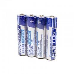 Батарейки AAA(LR03) ROBITON Standart упак 4 шт./1,5В. щелочные