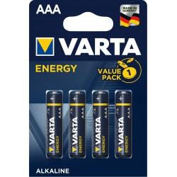 Батарейки AAA(LR03) VARTA Energy упак 4 шт./1,5В. щелочные
