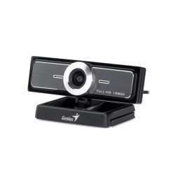 Веб-камера Genius Widecam F100 до 12МП,1920*1080,ручной фокус,креп.на моинтор,черная