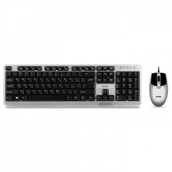 Комплект (клавиатура+мышь) USB Sven KB-S330C клавиатура + мышь серебро