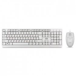 Комплект (клавиатура+мышь) USB Sven KB-S330C клавиатура + мышь белый