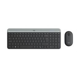 Комплект (клавиатура+мышь) Logitech MK470 (920-009206) радиус действия до 10м,Graphite беспроводной