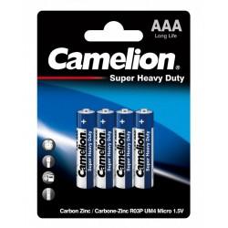 Батарейки AAA(R03) CAMELION упак 4 шт./1,5В. солевые