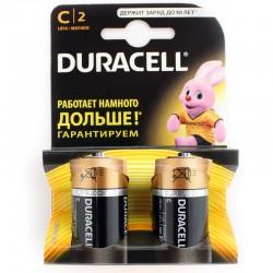 Батарейки C(LR14) DURACELL упак 2 шт./1,5В. щелочные