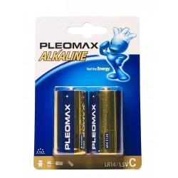 Батарейки C(LR14) PLEOMAX упак 2 шт./1,5В. щелочные