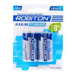 Батарейки C(LR14) ROBITON Standart упак 2 шт./1,5В. щелочные