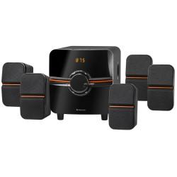 Актив.колонки 5.1 Defender Cinema 64  64Вт, питание от сети, BT,FM,MP3,SD,USB,LED,RC,MDF, Black
