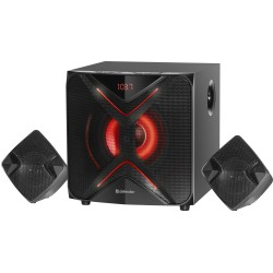 Актив.колонки 2.1 Defender G60 60Вт, Bluetooth, FM, MP3, SD/USB, питание от сети, MDF, Black