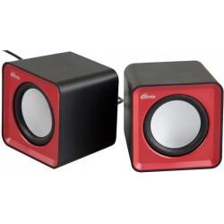 Актив.колонки 2.0 Ritmix SP-2020 5Вт, питание от USB, пластик, Black Red