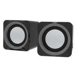 Актив.колонки 2.0 Ritmix SP-2025 5Вт, питание от USB, пластик, Black Gray