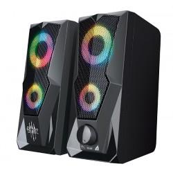 Актив.колонки 2.0 Qumo Blade AS001,15ВТ, объемное звучание, RGB подсветка