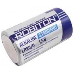 Батарейка D(LR20) ROBITON Standart 1 шт./1,5В. щелочная