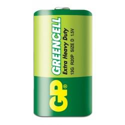Батарейка D(R20) GP Greencell 1 шт./1,5В. солевая
