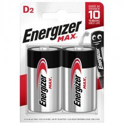 Батарейки D(LR20) ENERGIZER MAX 2 шт./1,5В. щелочная