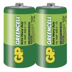 Батарейки D(R20) GP Greencell 2 шт./1,5В. солевая