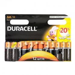 Батарейки AA(LR6) DURACELL отрывной блистер упак 12 шт./1,5В. щелочные