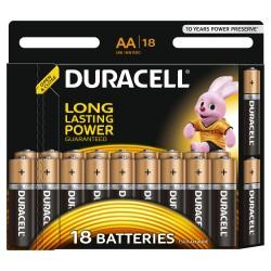 Батарейки AA(LR6) DURACELL упак 18 шт./1,5В. щелочные