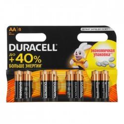 Батарейки AA(LR6) DURACELL упак 8 шт./1,5В. щелочные