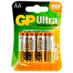 Батарейки AA(LR6) GP Ultra упак 4 шт./1,5В. щелочные