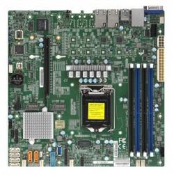 """Supermicro Motherboard 1xCPU X11SCM-F E-22**/ UpTo4UDIMM/ 6x SATA3/ C246 RAID 0/1/5/10/ 2xGE/ 1xPCIx16, M.2 Interface: 1 SATA/PCI-E 3.0 x4 and 1 PCI-E 3.0 x4(9.6"""" x 9.6"""")"""